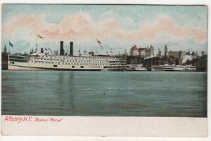 STEAMER-MORSE-PC-Postcard-USS-C-W-MORSE-ID-1966-Albany-New-York-NY-Ship-BOAT