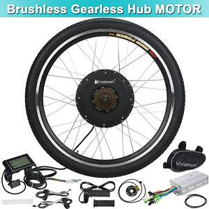 48V 1500W 1000W Rear Wheel Electric Bicycle E-Bike Kit Conversion LCD Display