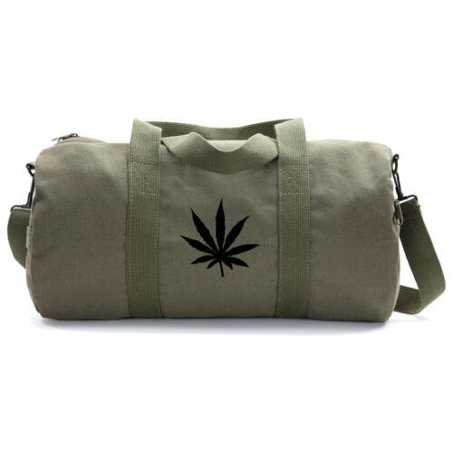 Marijuana Cannabis Leaf Vintage Style Duffle Bag 420 Gym Duffel
