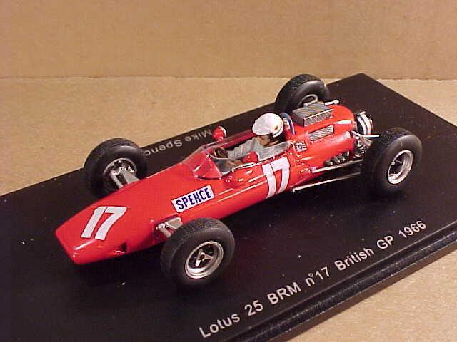 Spark 1 43 Résine Lotus 25 Brm,1966 Britannique Gran Prix   17 Mike Spence