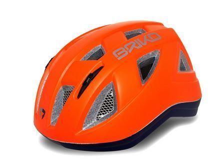 Briko PEINTURE Enfants Cycle Vélo De Montagne Casque Fluo Orange//Bleu 54-58 Medium