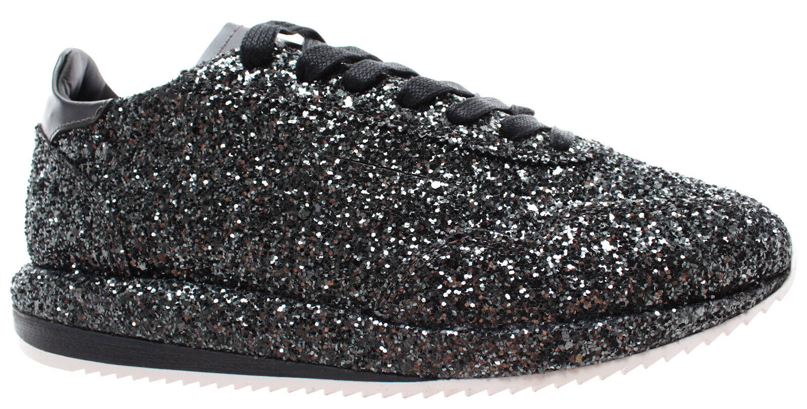 GHOUD Venice Women's shoes Sneakers G2WLGT38 Woman Low Glitter Black  New
