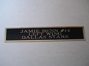 Details about Jamie Benn Stars Engraved Nameplate For A Hockey Jersey  Display Case 1 25