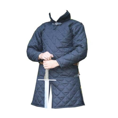 Thick Blue Gambeson Medieval Padded Full Sleeves Reenactment Larp Halloween Gift