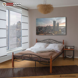 bett metallbett bettgestell doppelbett bettrahmen ehebett lattenrost 160 x 200 ebay. Black Bedroom Furniture Sets. Home Design Ideas