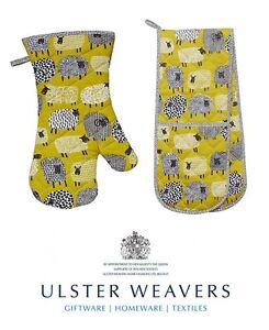Ulster-Weavers-coton-a-pois-mouton-double-Mitaine-a-four-ou-gant