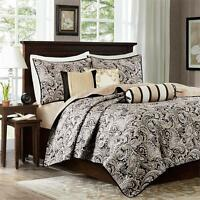 Madison Park Aubrey 6 Piece Quilted Coverlet Set