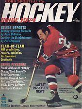 1974 Cord Sportfacts Hockey magazine, Frank Mahovlich, Montreal Canadiens ~ VG
