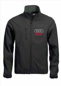 Audi Qualité Softshell Veste Manteau Brodé Noir Tailles S-5xl-afficher Le Titre D'origine