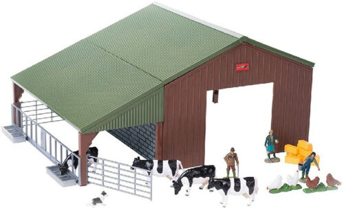 BRI43139A1 Hangar avec stabulation 4 vaches 3 fermiers et accessoi 4 poules