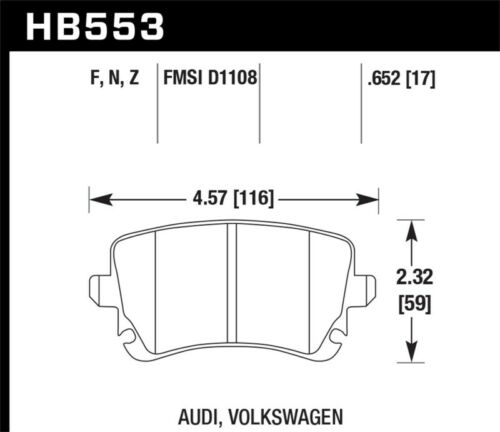 HAWK 2004-2008 AUDI S4 4.2L V8 B6 B7 HPS STREET FRONT AND REAR BRAKE PADS