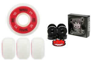 Bones-Wheels-100-039-s-White-52mm-Conical-V5-FREE-Spitfire-Skateboard-Bearings