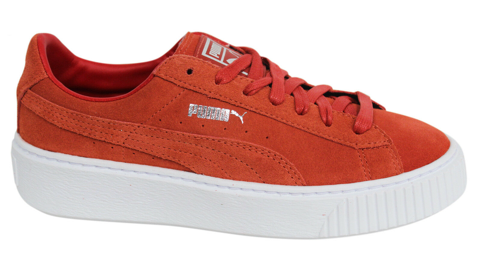 Puma Suede Platform Burnt Orange Lace Up femmes Trainers 362223 03 U2