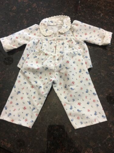 American Girl Doll Retired Emily Flannel Floral Pajamas Pjs ONLY