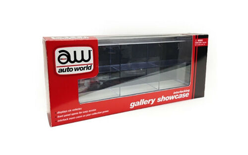 6 CAR INTERLOCKING DISPLAY SHOW CASE FOR 1//64 SCALE MODELS BY AUTOWORLD AWDC003