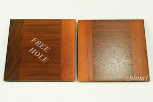 "1 LENS BOARD 5.5"" x 5.5"" FOR TACHIHARA 8""x10""- Solid Walnut, undrilled/free hole"