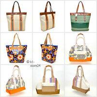 FOSSIL Damen Shopper Handtasche Umhängetasche Schultertasche Canvastasche Bag