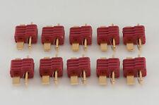 5 Male Black T-Connector Plug Eflite HPI ParkZone Deans