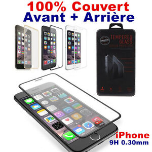 Vitre-Film-Protection-Verre-Trempe-incassable-iPhone-8-7-6-S-Plus-AVANT-ARRIERE