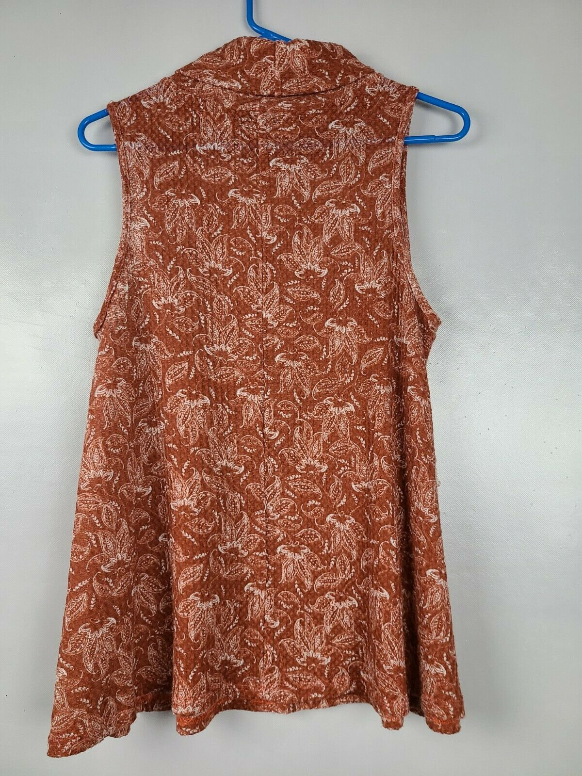 Sweet Claire Womens Top Size Small Brown White Fl… - image 3