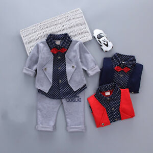 Baby Boy Clothes Outfits 12 18 Months Gentleman Suits Kids 3y Clothes Suits Ebay