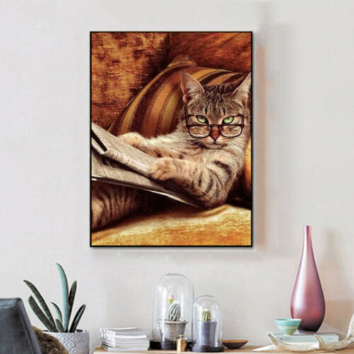 5D Full Drill Diamond Painting Embroidery Cross Stitch Kids Cat Gifts US Stock