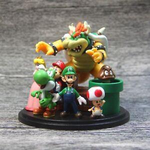 18PCS Super Mario Bros Figurines statues jeux vidéo Statuine Miniature Kids Toy