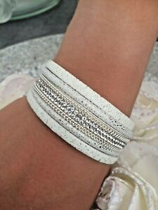 bracelet cuir blanc femme