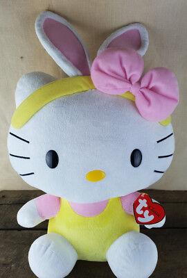 Ty Hello Kitty Beanie Buddies Sanrio 2011 Bambola Peluche Peluche Giocattolo Rosa Giallo-mostra Il Titolo Originale