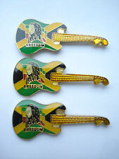 VINTAGE BOB MARLEY FENDER GUITAR FREEDOM REGGAE MUSIC RECORD LP CD PIN BADGE LOT