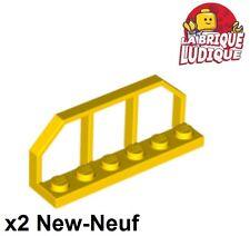 Lego - x2 Plate Modified 1x6 barrière Train Wagon End jaune/yellow 6583 NEUF