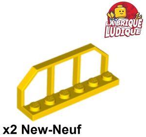 x2 Plate Modified 1x6 barrière Train Wagon End jaune//yellow 6583 NEUF Lego