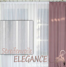 Hochwertige Gardine Fertiggardinen Streifen Voile Store Vorhang nach Maß ELEGANZ