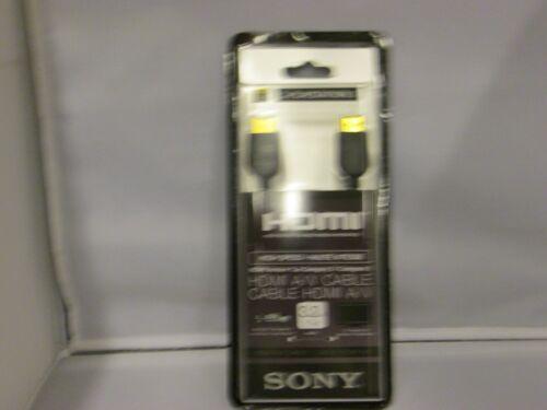 3.3 FT. SONY DLCHD10P HIGH SPEED HDMI CABLE DLC-HD10P BLACK
