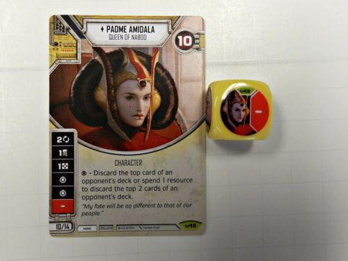 Star Wars Destiny Awakenings #48 Padme Amidala w// Dice