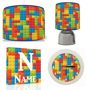 Lego bricks light shade personalised art touch lamp and clock image is loading lego bricks light shade personalised art touch lamp aloadofball