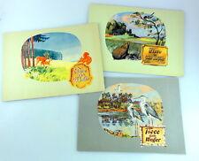 3 Sammelbilder-Alben SCHÜLE HOHENLOHE um 1950 Tiere des Waldes Feld Flur Wasser