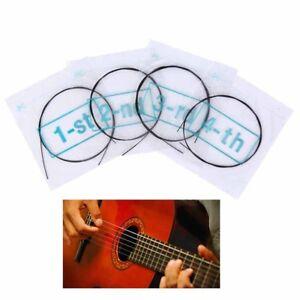 4X U101 ukulele strings nylon ukulele replacement strings nylon black strings  X