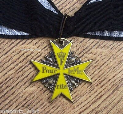 REPLICA POUR LE MERITE MEDAL / BLUE MAX ( YELLOW VERSION ) - GERMAN PRUSSIA /WW1