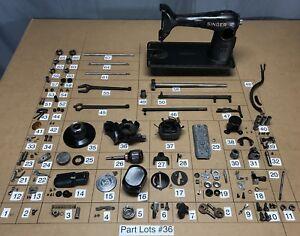Details about 1940 Singer 201-2 Sewing Machine Parts Lots Replacement  Repair Restore Original