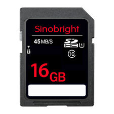 16GB Ultra SD CARD Sinobright Class10 45MB/S 300X SD Memory Card For Camare GPS