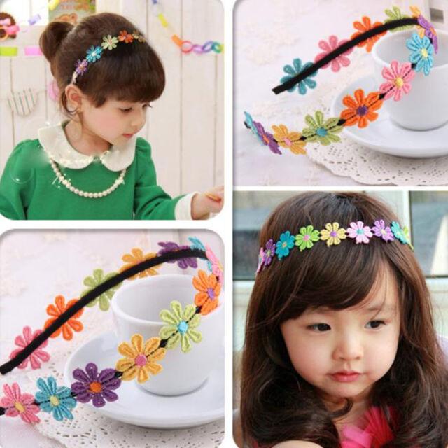 Kinder Baby Mädchen Blumen Haarband Stirnband Kopfband Haarschmuck NEU