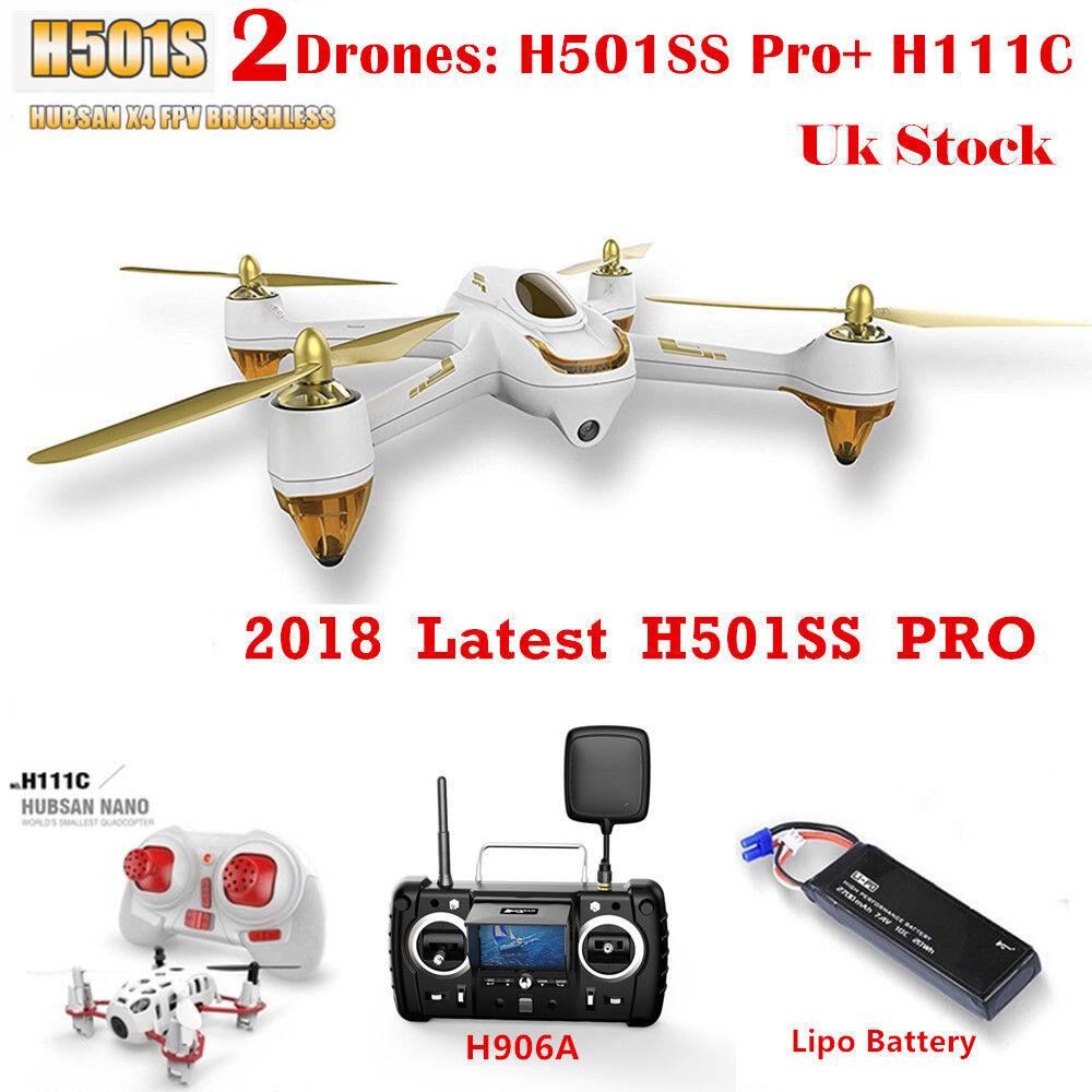 HUBSAN H501S X4 FPV DRONE W  GPS 1080P Headless Follow Me RTH, PRO Edition RTF