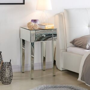 Mirrored bedside tables cabinets bedroom clear or black mirror image is loading mirrored bedside tables cabinets bedroom clear or black watchthetrailerfo