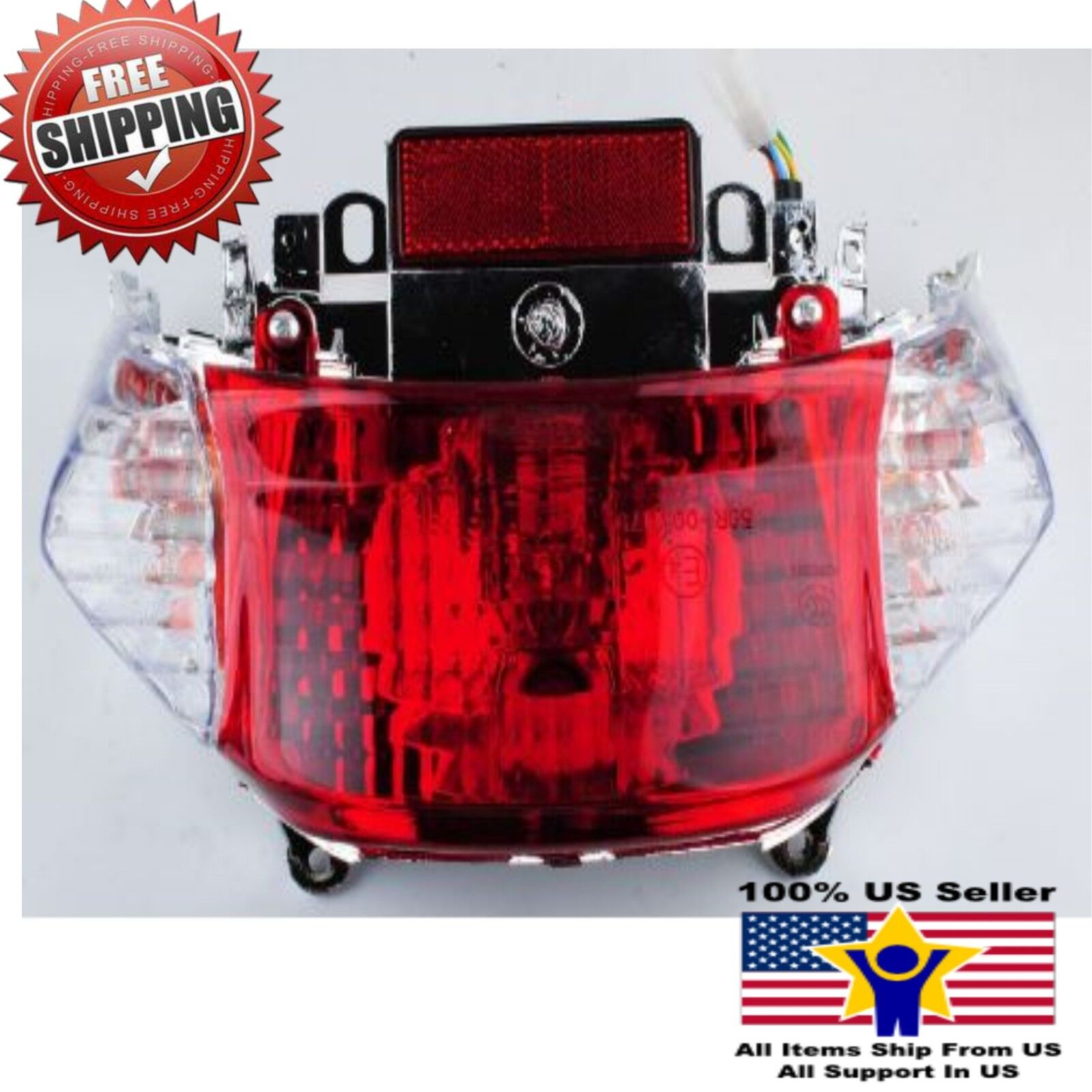 Tail Light Lens Kit for Tao Tao ATM50A//A1 Speedy Scooter by VMC CHINESE PARTS