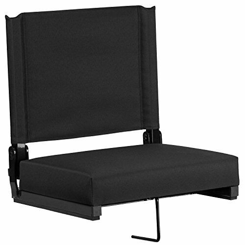 Flash Furniture Grandstand Comfort Seats by Flash with Ultra-Padded Seat in Blac