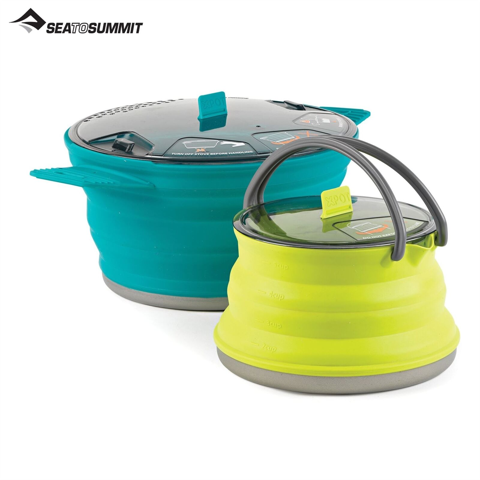 Sea To Summit Pliable Camping Kettle & Casserole Pot sans Bpa Silicone Léger