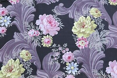 "DESIGNERS GUILD CURTAIN FABRIC DESIGN  /""Darly/"" 2.7 METRES INDIGO 100/% LINEN"