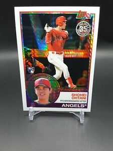 2018 Topps Chrome Shohei Ohtani Rookie Silver Pack 1983 Prism Refractor #145 RC