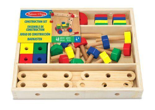 Melissa /& Doug Bau Konstruktionsspielzeug 48-teilig Baukasten Kinder Spielzeug